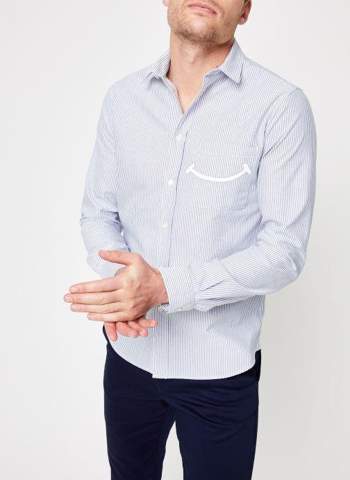 Vêtements Commune de Paris CHEMISE ROSSEL Bleu vue détail/paire
