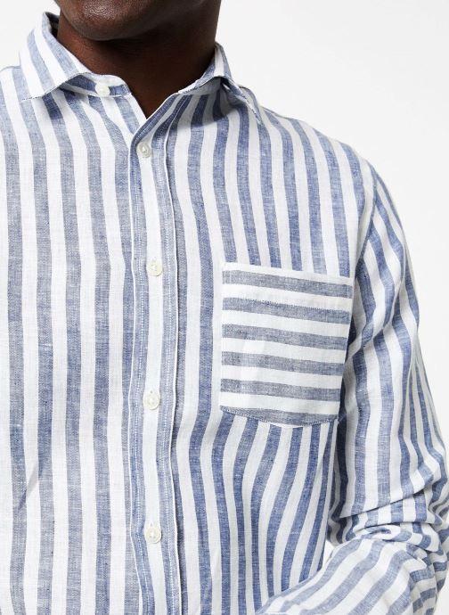 Vêtements Commune de Paris CHEMISE TRINQUET Bleu vue face