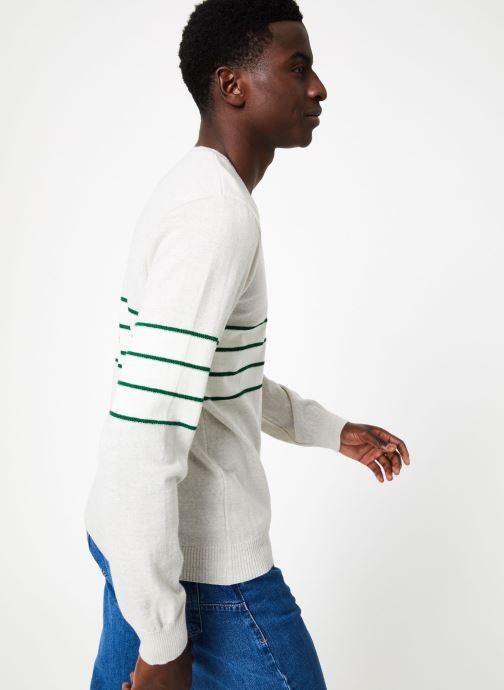 Vêtements Commune de Paris PULL VALMY Vert vue droite