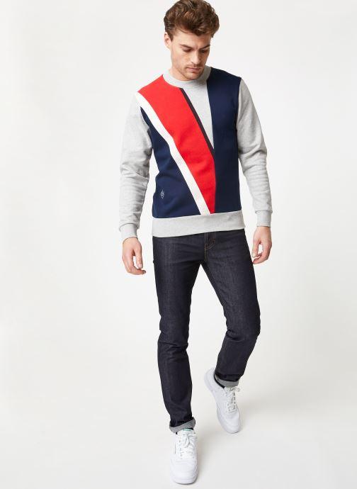 Vêtements Commune de Paris SWEAT DIEGO Gris vue bas / vue portée sac