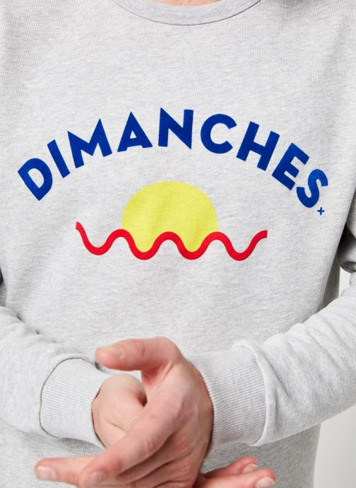 Vêtements Commune de Paris SWEAT DIMANCHES SUN Gris vue face
