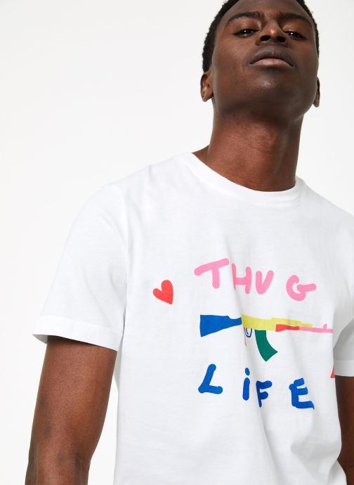 Vêtements Commune de Paris TEE SHIRT LOVEGUN Blanc vue face