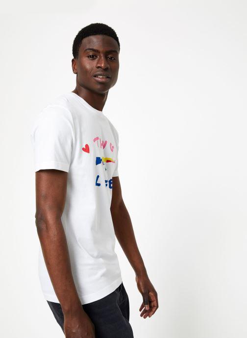 Vêtements Commune de Paris TEE SHIRT LOVEGUN Blanc vue droite