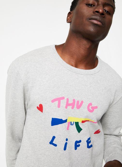 Vêtements Commune de Paris SWEAT LOVEGUN Gris vue face