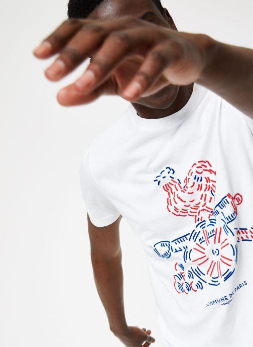 Vêtements Commune de Paris TEE SHIRT COQ Blanc vue face