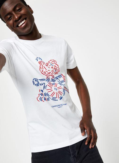 Vêtements Commune de Paris TEE SHIRT COQ Blanc vue détail/paire