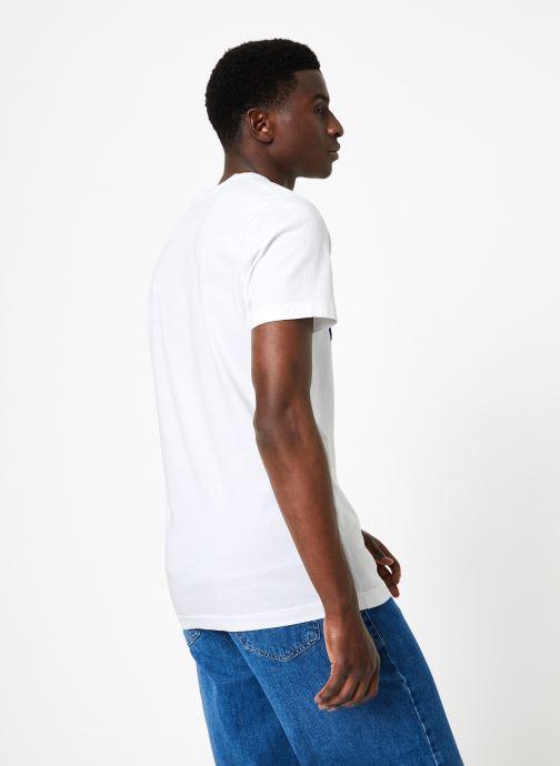 Vêtements Commune de Paris TEE SHIRT DIMANCHES SUN Blanc vue portées chaussures