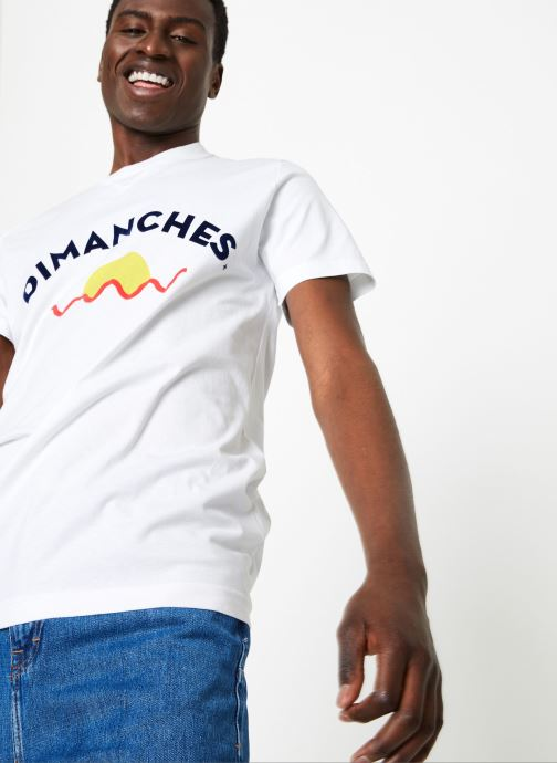 Vêtements Commune de Paris TEE SHIRT DIMANCHES SUN Blanc vue détail/paire