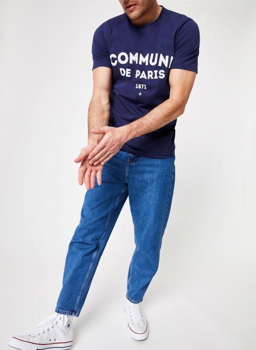 Vêtements Commune de Paris TEE SHIRT ICI Bleu vue bas / vue portée sac