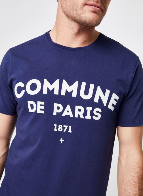 Vêtements Commune de Paris TEE SHIRT ICI Bleu vue face