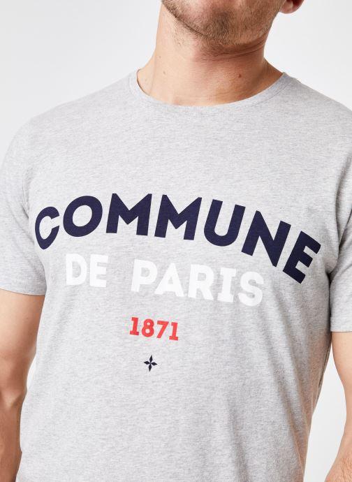 Vêtements Commune de Paris TEE SHIRT ICI Gris vue face