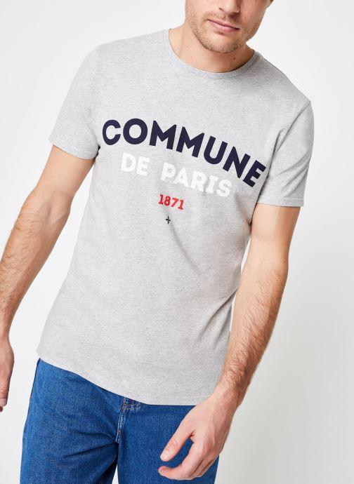 Vêtements Commune de Paris TEE SHIRT ICI Gris vue détail/paire