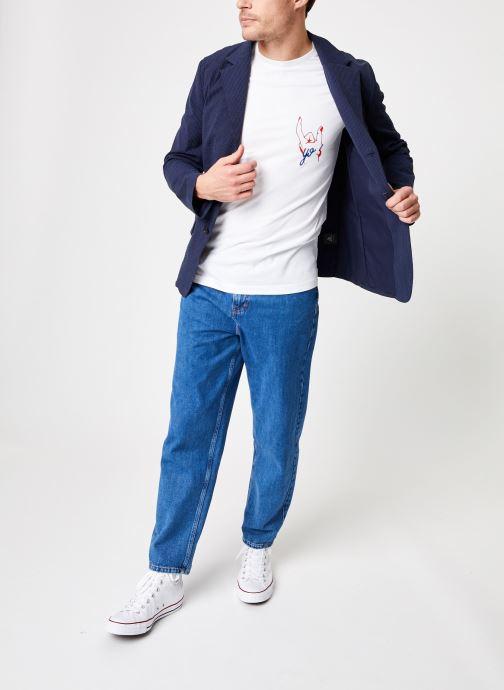 Vêtements Commune de Paris TEE SHIRT YO Blanc vue bas / vue portée sac