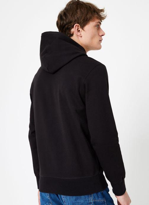 Kleding Champion Champion Large Script Logo Hooded Sweatshirt Zwart model