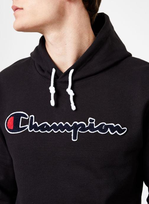 Tøj Champion Champion Large Script Logo Hooded Sweatshirt Sort se forfra
