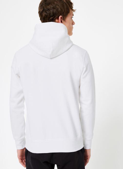 Tøj Champion Champion Large Script Logo Hooded Sweatshirt Hvid se skoene på