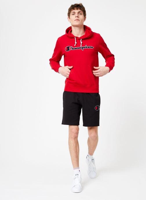 Vêtements Champion Champion Large Script Logo Hooded Sweatshirt Rouge vue bas / vue portée sac