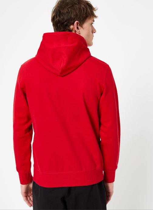 Vêtements Champion Champion Large Script Logo Hooded Sweatshirt Rouge vue portées chaussures