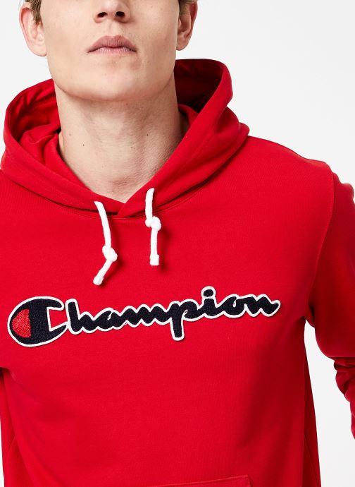 Vêtements Champion Champion Large Script Logo Hooded Sweatshirt Rouge vue face