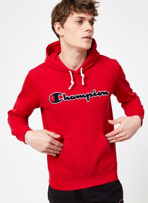 Vêtements Champion Champion Large Script Logo Hooded Sweatshirt Rouge vue droite