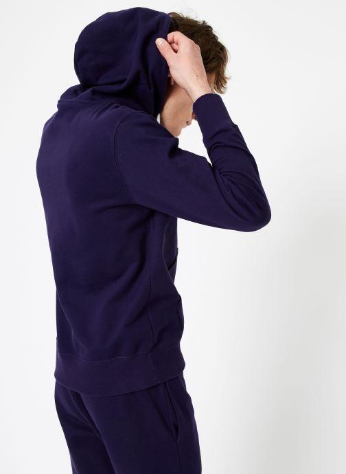 Kleding Champion Champion Large Script Logo Hooded Sweatshirt Blauw model