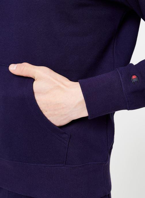 Vêtements Champion Champion Large Script Logo Hooded Sweatshirt Bleu vue face