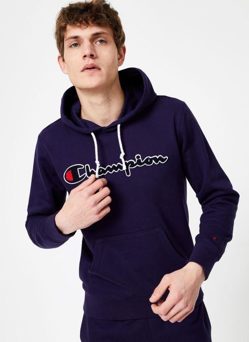 Tøj Champion Champion Large Script Logo Hooded Sweatshirt Blå Se fra højre