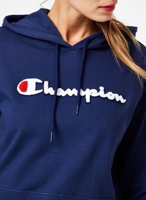 Kleding Champion Champion Large Script Logo Hooded Sweatshirt Blauw voorkant