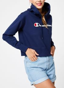 Champion Large Script Logo Hooded Sweatshirt