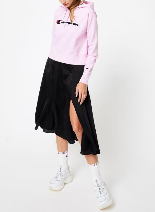 Tøj Champion Champion Large Script Logo Hooded Sweatshirt Pink se forneden