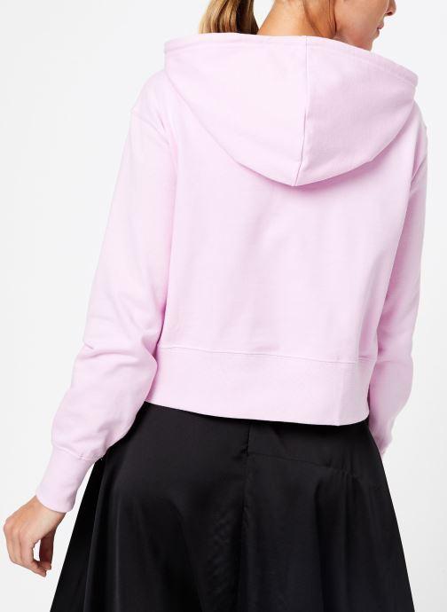 Kleding Champion Champion Large Script Logo Hooded Sweatshirt Roze model
