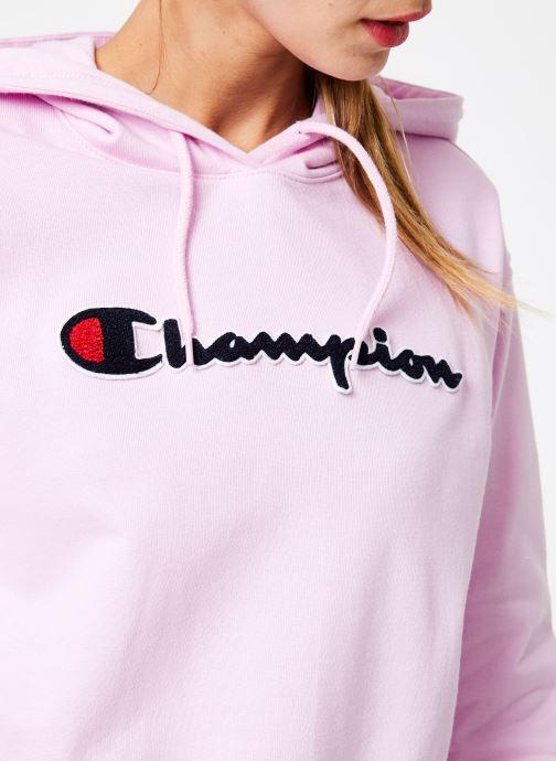Kleding Champion Champion Large Script Logo Hooded Sweatshirt Roze voorkant