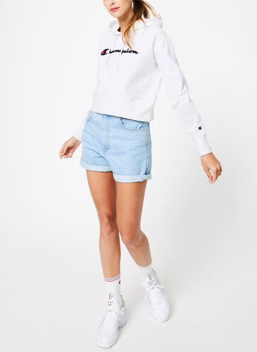 Vêtements Champion Champion Large Script Logo Hooded Sweatshirt Blanc vue bas / vue portée sac