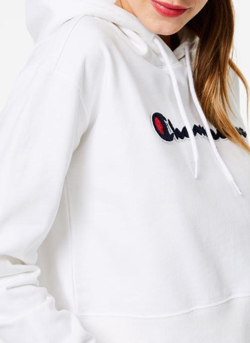 Vêtements Champion Champion Large Script Logo Hooded Sweatshirt Blanc vue face