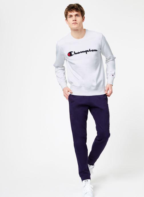 Vêtements Champion Champion Large Script Logo Crewneck Sweatshirt Blanc vue bas / vue portée sac