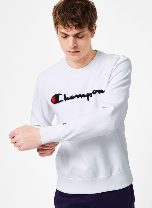 Vêtements Champion Champion Large Script Logo Crewneck Sweatshirt Blanc vue droite
