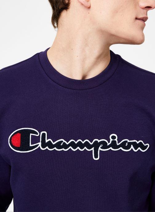 Kleding Champion Champion Large Script Logo Crewneck Sweatshirt Blauw voorkant
