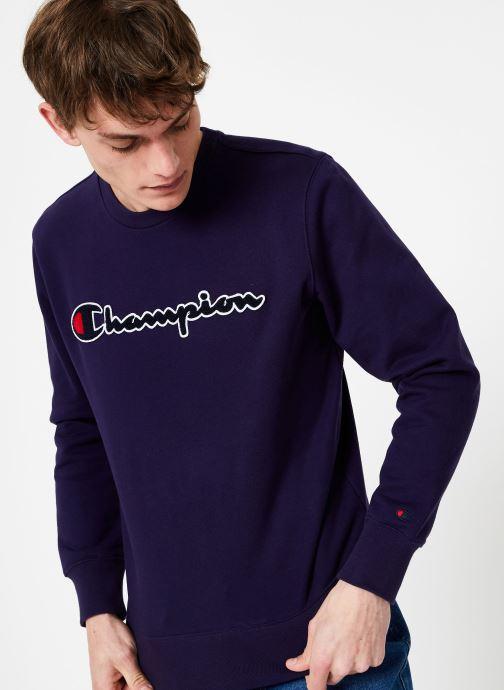 Kleding Champion Champion Large Script Logo Crewneck Sweatshirt Blauw detail