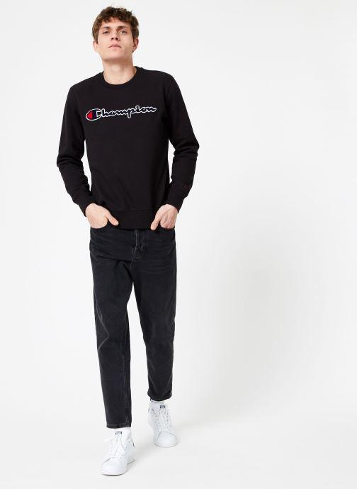Vêtements Champion Champion Large Script Logo Crewneck Sweatshirt Noir vue bas / vue portée sac