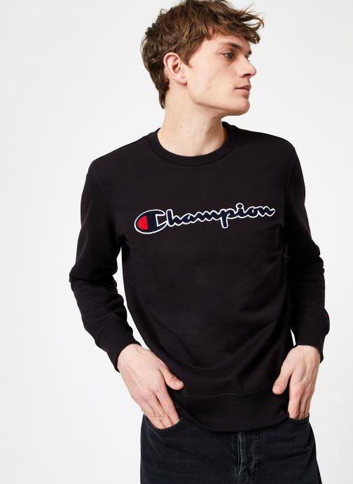 Vêtements Champion Champion Large Script Logo Crewneck Sweatshirt Noir vue droite