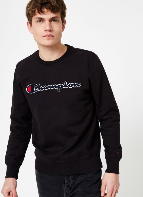 Kleding Champion Champion Large Script Logo Crewneck Sweatshirt Zwart detail