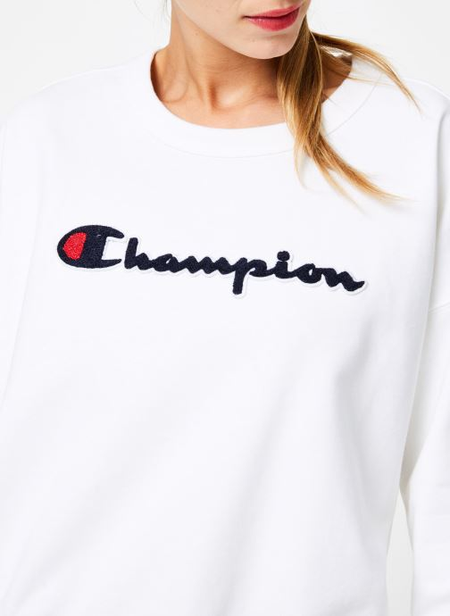 Vêtements Champion Champion Large Script Logo Crewneck Sweatshirt Blanc vue face