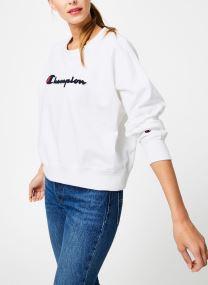 Kleding Accessoires Champion Large Script Logo Crewneck Sweatshirt