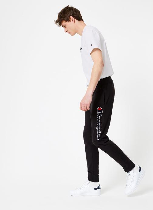 Kleding Champion Champion Vertical Script Logo Rib Cuff Pants Zwart onder