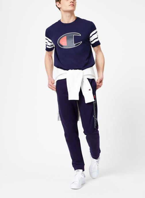 Tøj Champion Champion Vertical Script Logo Rib Cuff Pants Blå se forneden