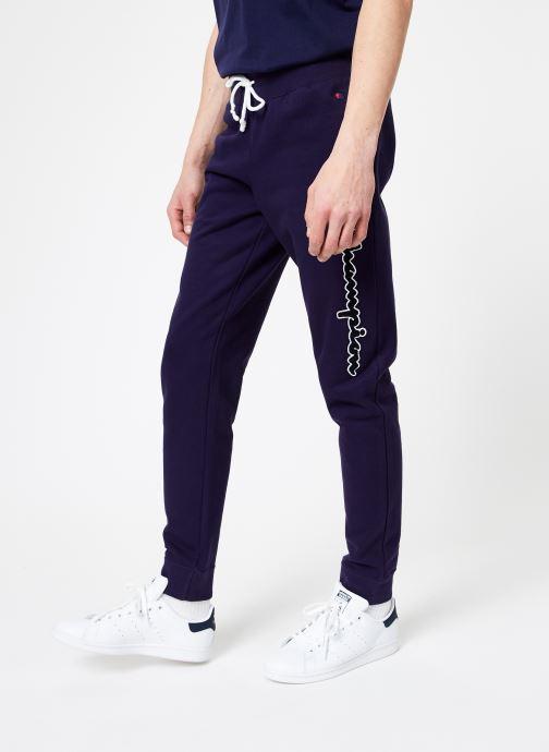 Tøj Champion Champion Vertical Script Logo Rib Cuff Pants Blå detaljeret billede af skoene
