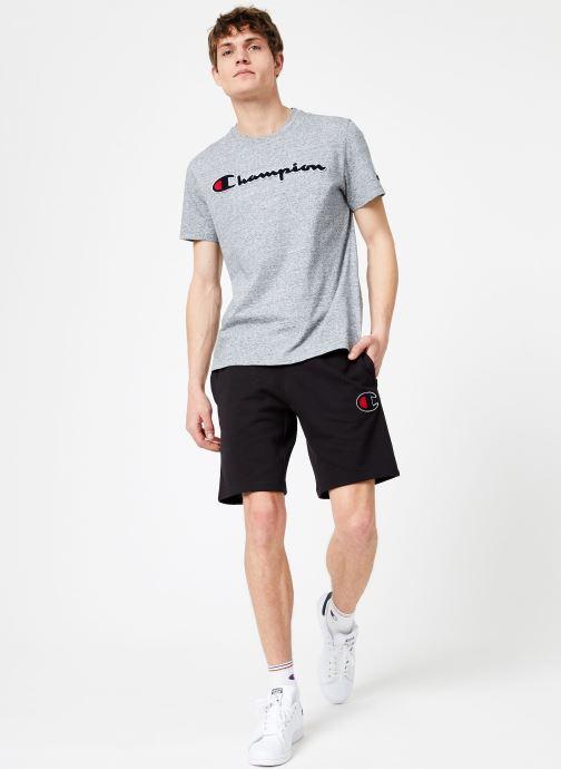 Tøj Champion Champion Large Script Logo Crewneck T-Shirt Grå se forneden