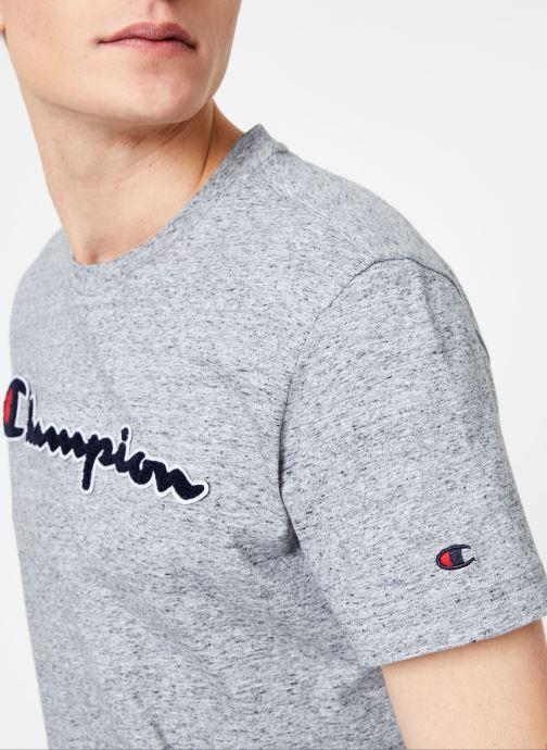 Tøj Champion Champion Large Script Logo Crewneck T-Shirt Grå se forfra