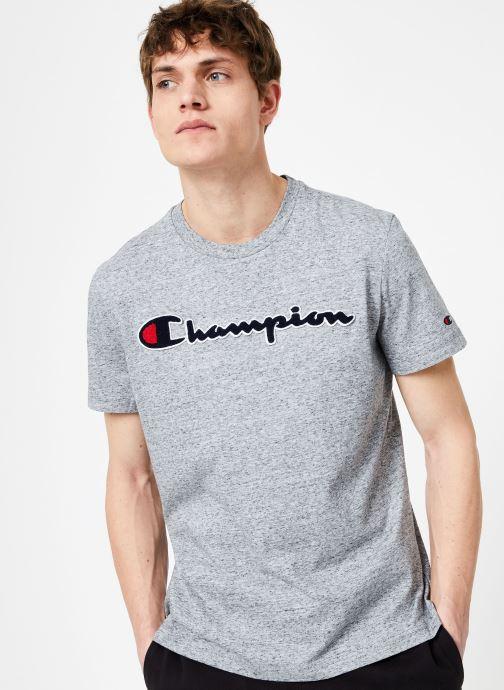Vêtements Champion Champion Large Script Logo Crewneck T-Shirt Gris vue droite