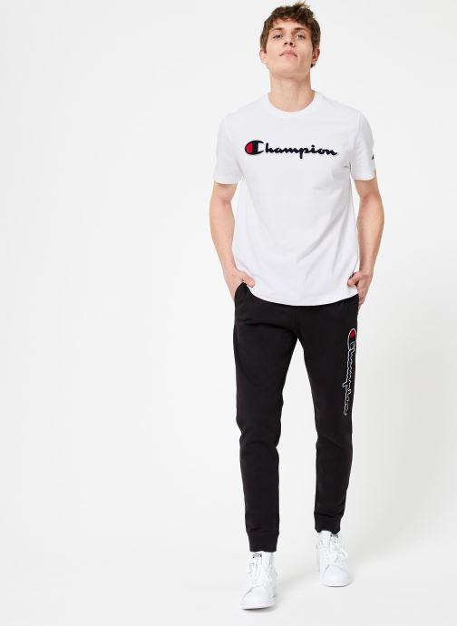 Tøj Champion Champion Large Script Logo Crewneck T-Shirt Hvid se forneden